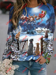 X-Mas Eve Party Printed Sweatshirt