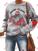 Santa Claws Love Sweatshirt Light Grey / S