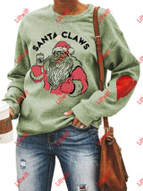 Santa Claws Love Sweatshirt Olive Green / S