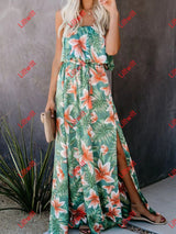 Tropical Rain Forest Split Dress