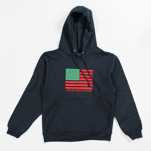 HU Embroided AA Flag PullOver Hoody