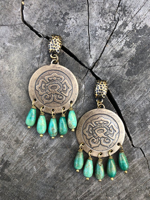 Xochitl discs with turquoise