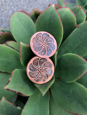 Copper peyotitos post earrings
