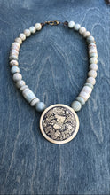 Load image into Gallery viewer, Coyolxauhqui large pendant with jasper necklace