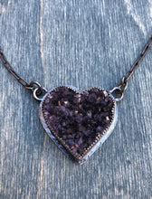 Load image into Gallery viewer, Corazón de amatista Necklace