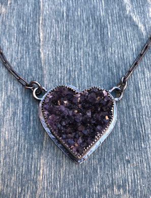 Corazón de amatista Necklace