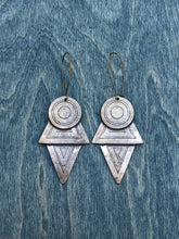 Load image into Gallery viewer, Extra Large Coyolxauhqui earrings BRONZE