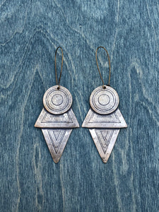 Extra Large Coyolxauhqui earrings BRONZE