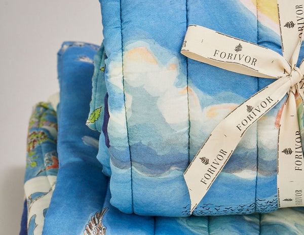 Organic quilted blankets make the perfect special gift for babies and children