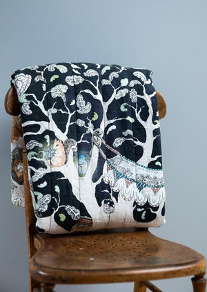 The Enchanted Forest Quilted Blanket