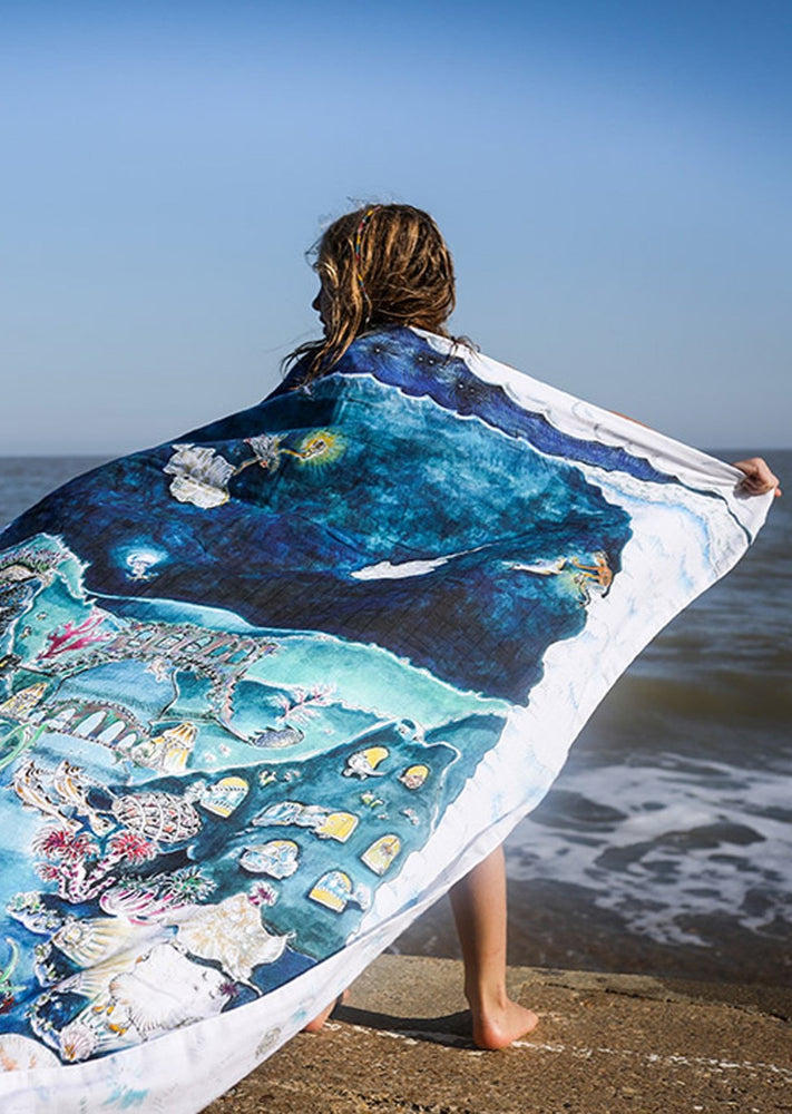 The Legends of the Sea Muslin Blanket - Large