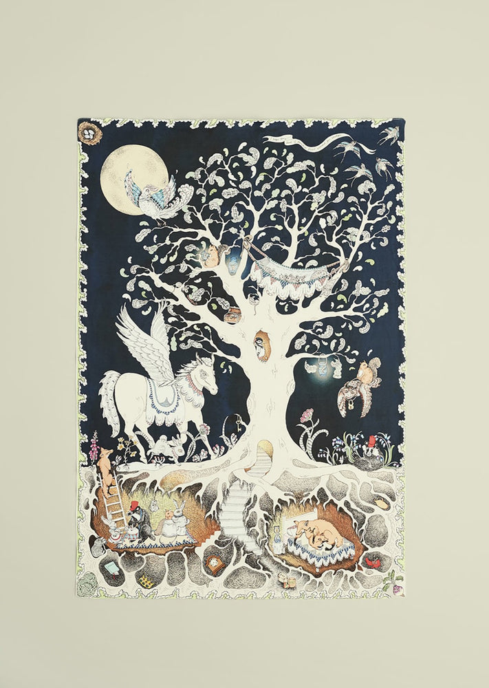 The Enchanted Forest Jersey Blanket - Large