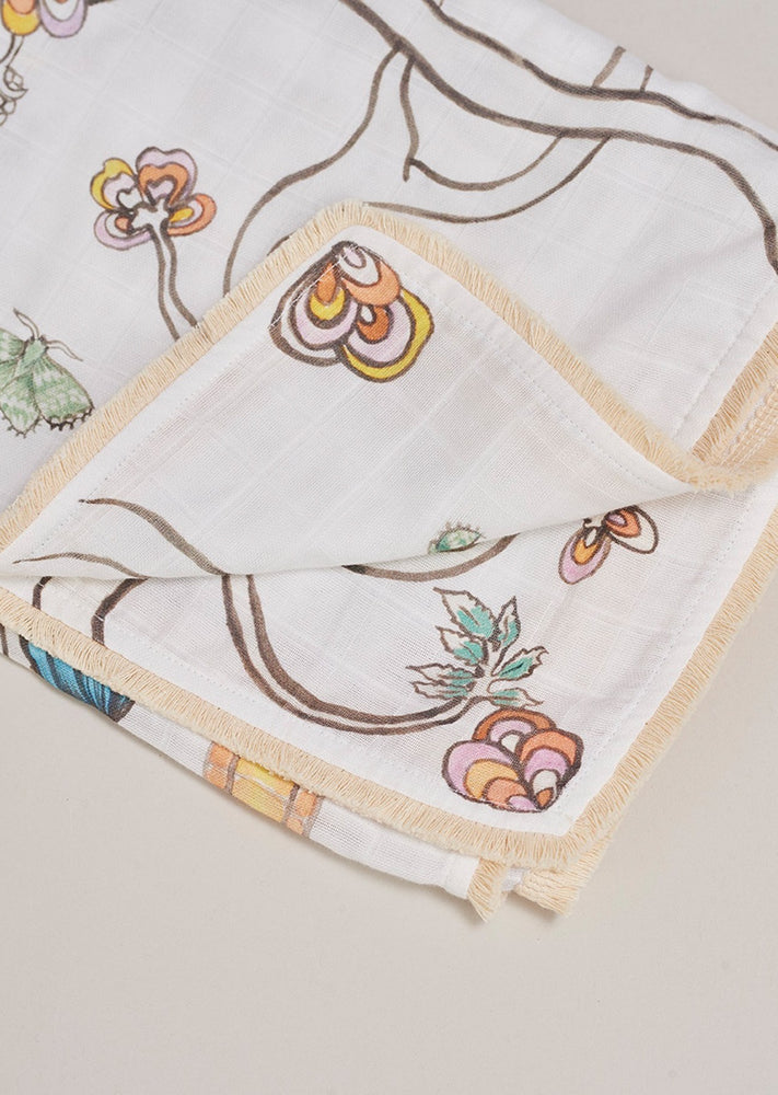 Load image into Gallery viewer, Fluttering Flight Muslin Blanket - Large