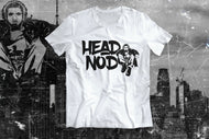 Young Nas Head Nod Graphic Tee Black Graphic, White Tee