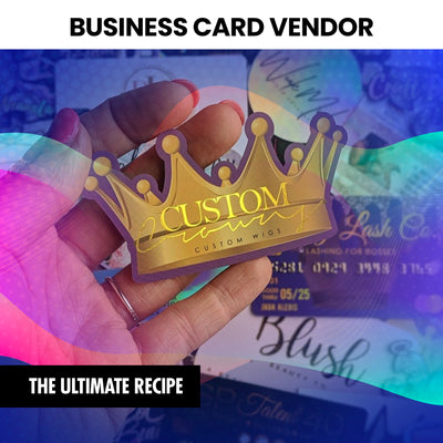 Business Card Vendor (Instantly Emailed)
