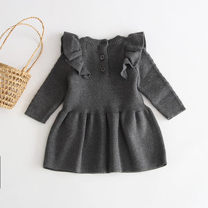 Knit Ruffle Dress - Arrows and Lace Boutique
