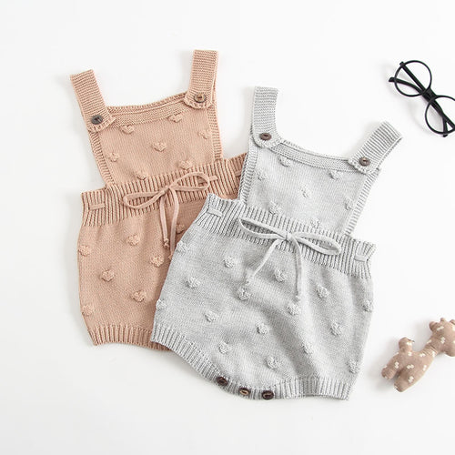 Liam Knit Romper - Arrows and Lace Boutique
