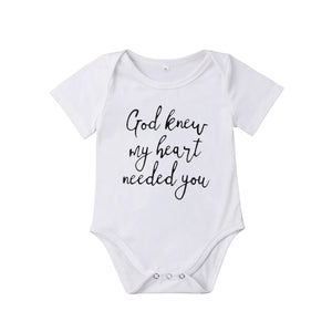 God Knew Onesie - Arrows and Lace Boutique