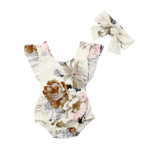 Floral Romper - Arrows and Lace Boutique