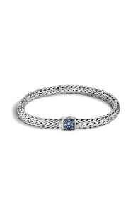 Classic Chain Bracelet with Blue Sapphire