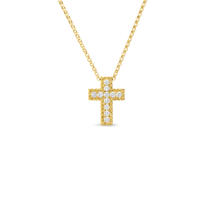 PRINCESS CROSS DIAMOND NECKLACE