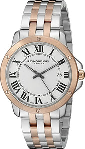 Tango White Dial Two-tone Stainless Steel Men's Watch