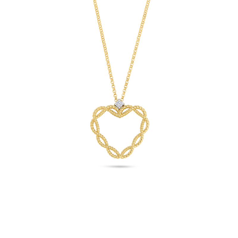 NEW BARROCO BRAIDED HEART NECKLACE