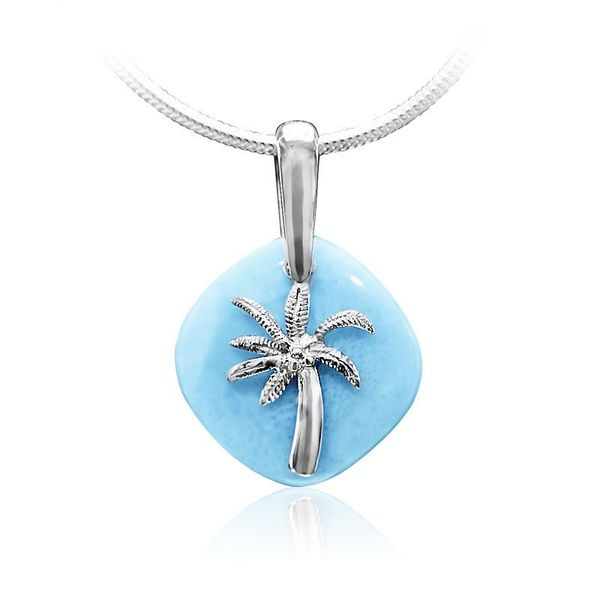 Adalia Larimar Palm Tree Necklace