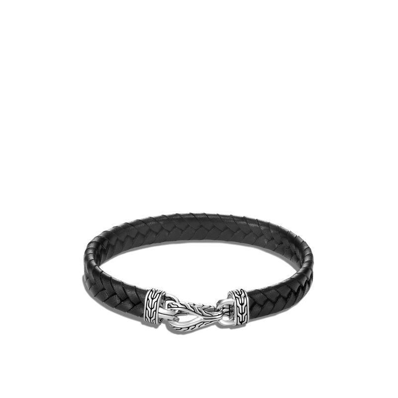Asli Classic Chain Link Station Bracelet, Leather