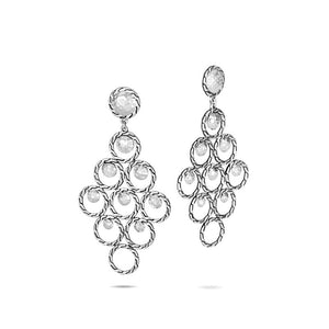 Dot Hammered Chandelier Earring