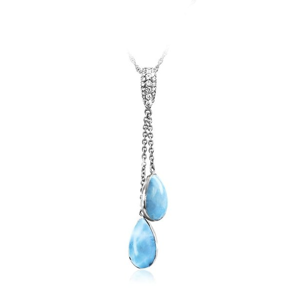 Liberty Larimar Necklace With White Sapphire