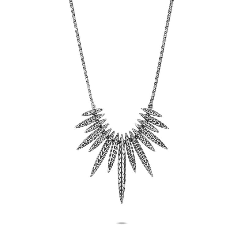 Classic Chain Spear Bib Necklace