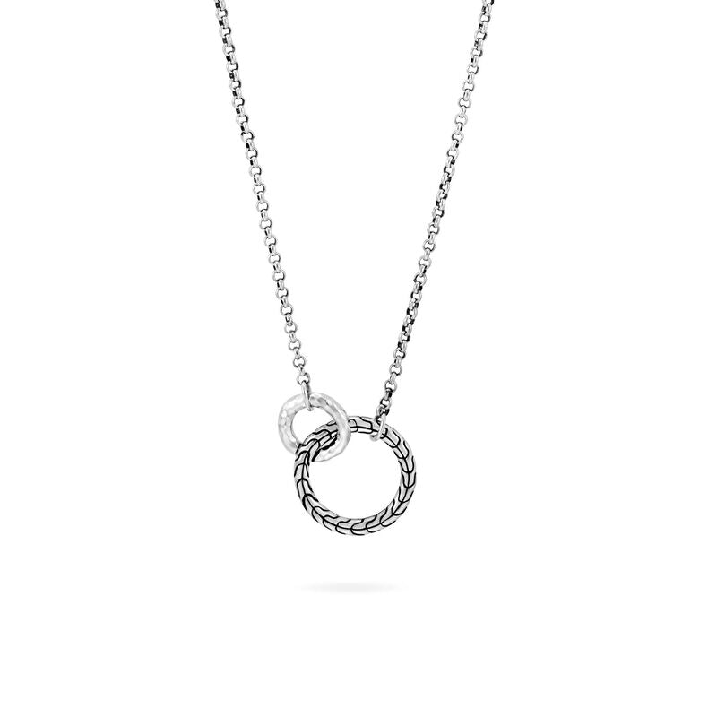 Classic Chain Hammered Interlinking Necklace