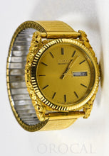 Load image into Gallery viewer, Seiko Gold Nugget Inlay Quartz Mens Watch w/ Flex Band by Orocal