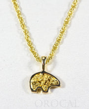 "Load image into Gallery viewer, Gold Nugget Pendant Bear ""Orocal"" PBR1SOLX Genuine Hand Crafted Jewelry - 14K Gold Yellow Gold Casting"