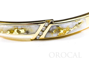 "Gold Quartz Bracelet ""Orocal"" BBDL147DQ Genuine Hand Crafted Jewelry - 14K Gold Casting"