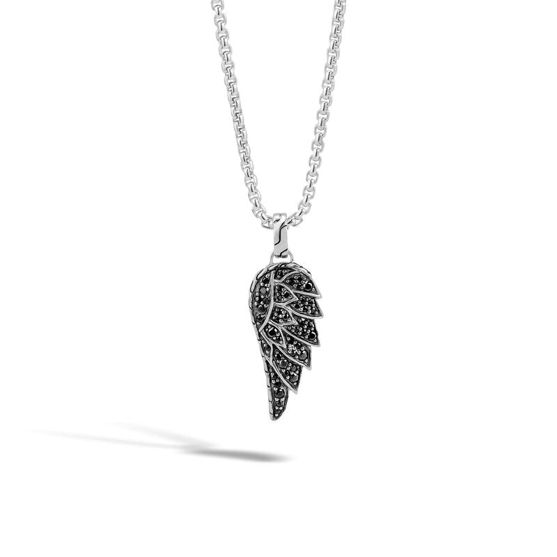 Eagle Pendant Necklace with Black Sapphire