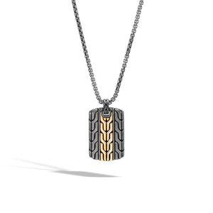 Classic Chain Dog Tag Necklace