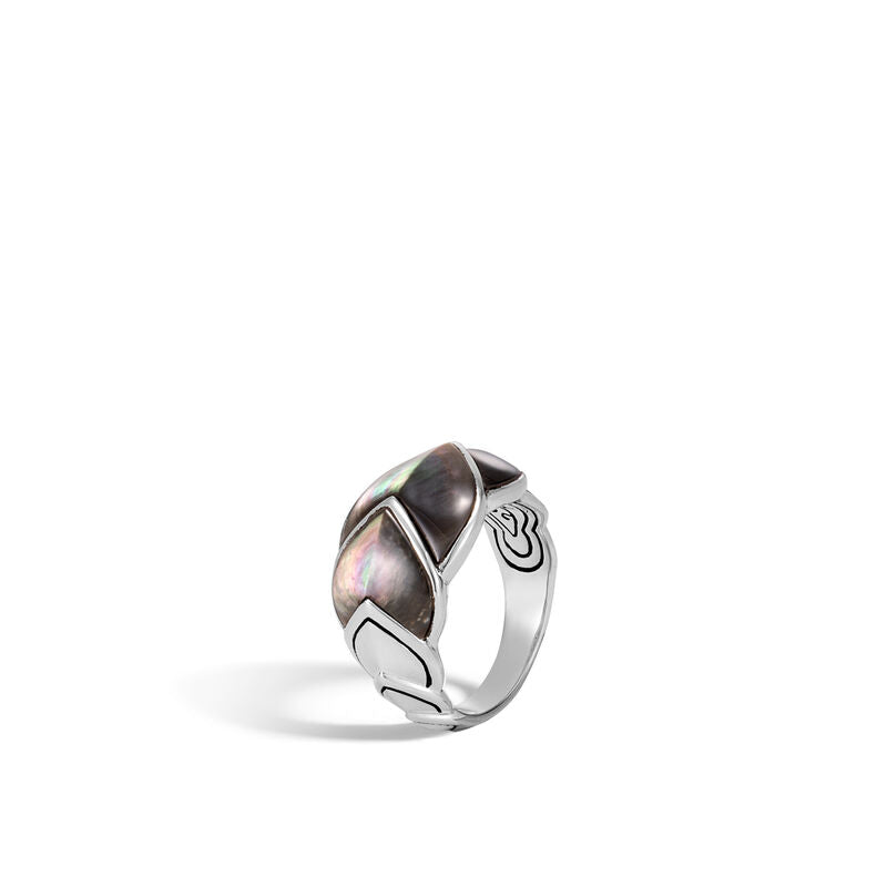 Naga Ring with Grey Mother of Pearl
