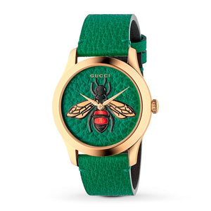 G-Timeless Emerald Green with Bee Motif Dial