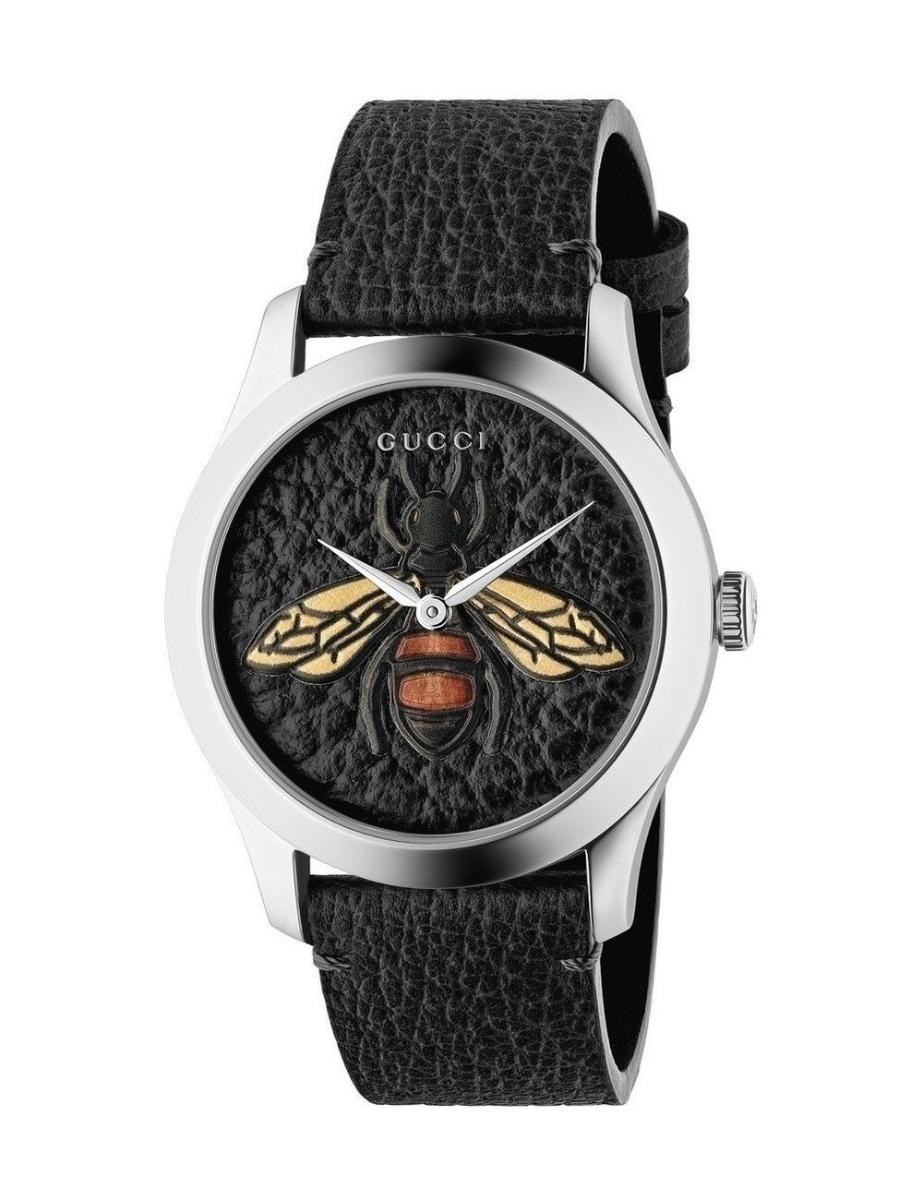 G-Timeless Black Dial with an Embroidered Honeybee