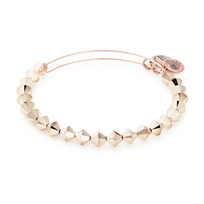 Champagne Beaded Bangle Bracelet