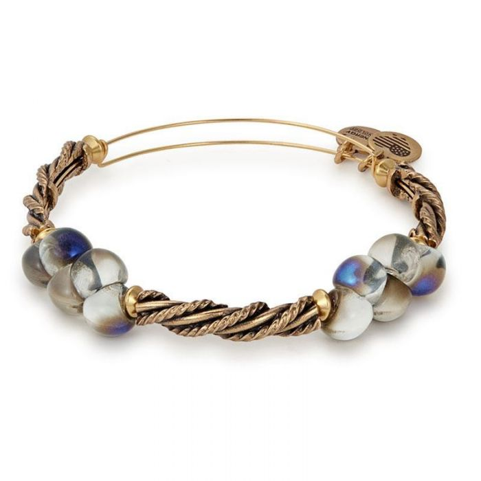Dusk Spirit Spiral Beaded Bangle