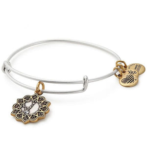 Pisces Two Tone Charm Bangle Bracelet