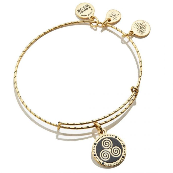 Triskelion Double Sided Embossed Charm Bangle