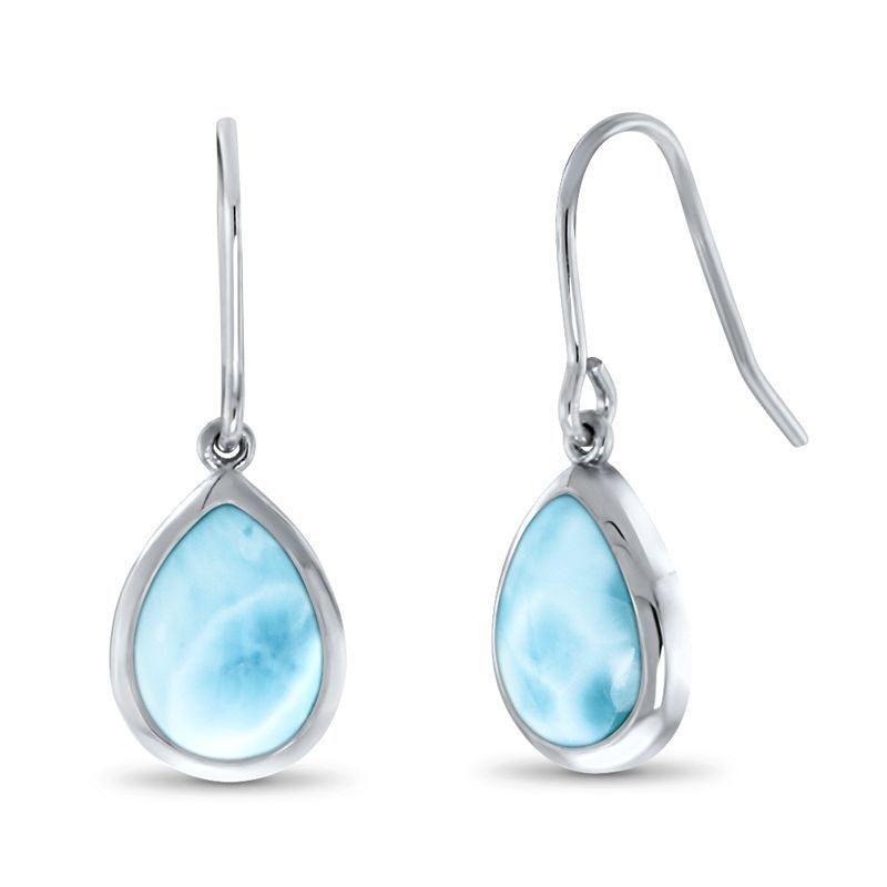 Basics Pear Dangle Larimar Earrings