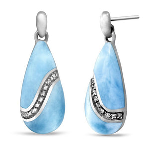 Brook Larimar Earrings With White Sapphire
