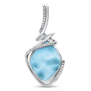 Calypso Larimar Necklace With White Sapphire