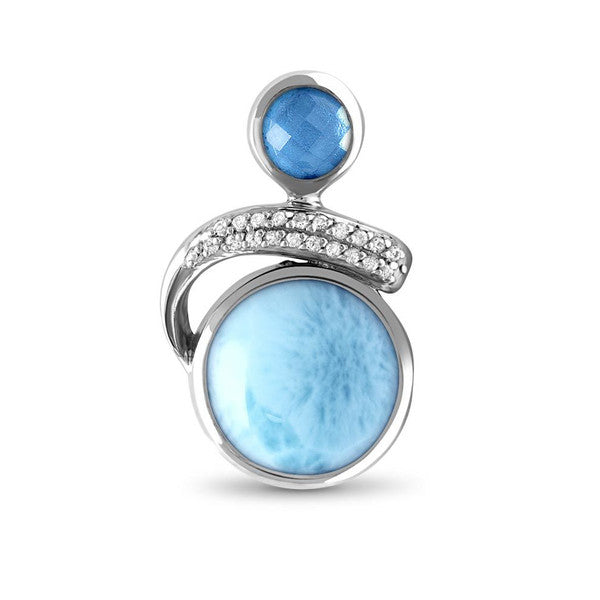 MarahLago Como Larimar Necklace With White Sapphire & Blue Spinel
