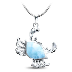 Larimar Crab Pendant/Necklace